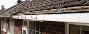 Plastic Guttering Being Installed